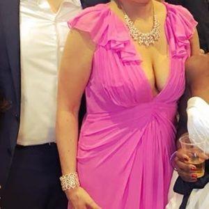 Jill Jill Stuart pink flutter sleeve formal dress!